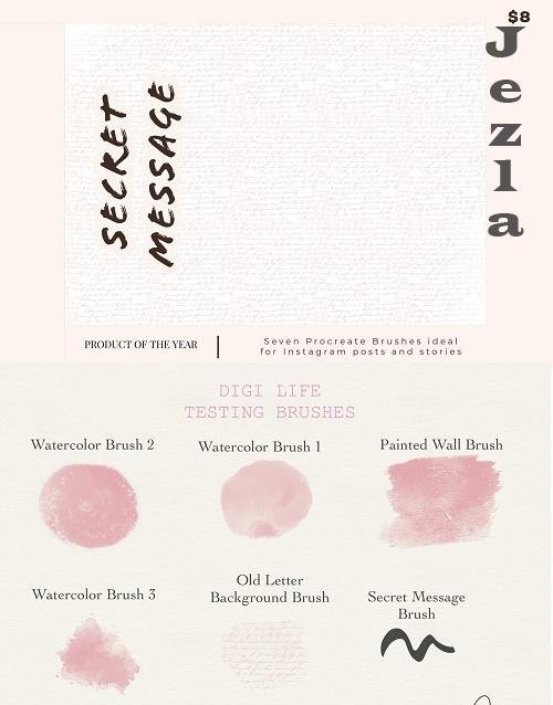 Secret Message Procreate Brushes - 5323200