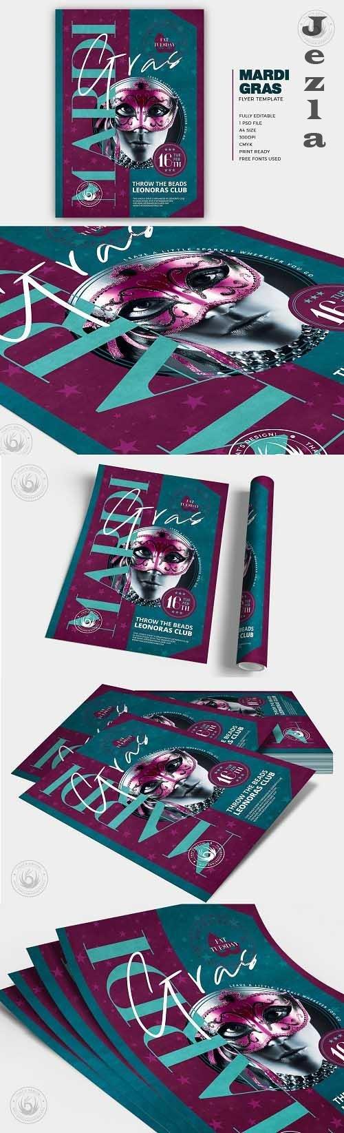 Mardi Gras Flyer Template V4 - 5764564