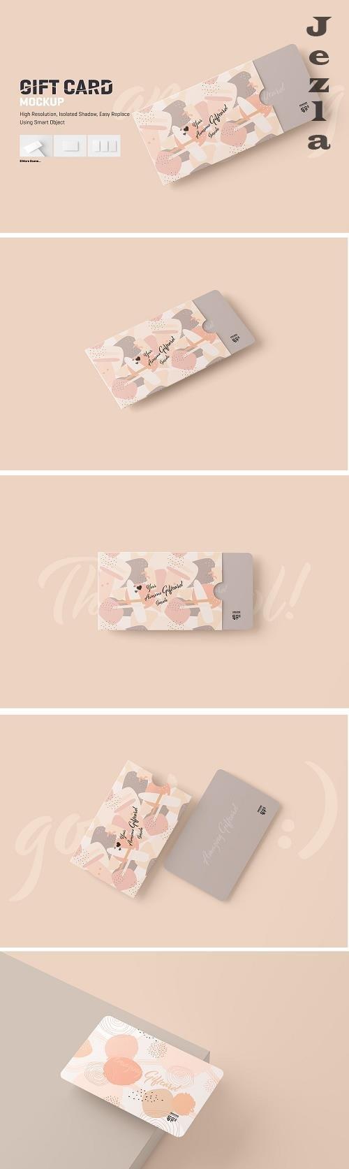 CreativeMarket - Gift Card Mockup 5752504