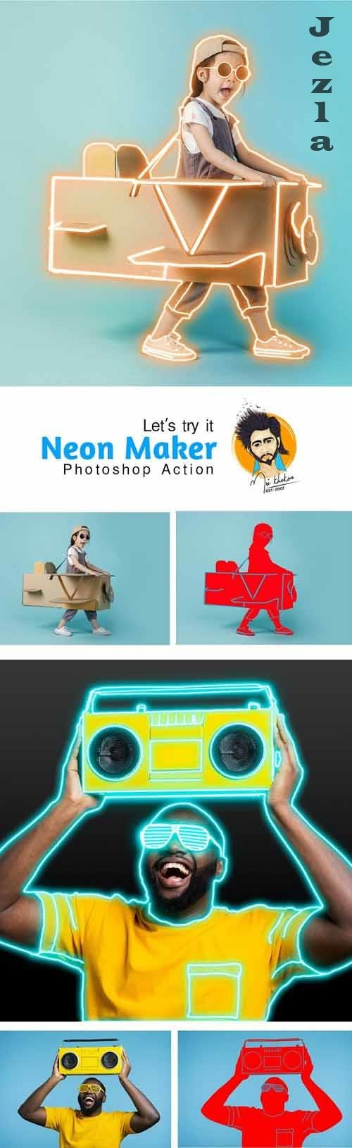 GraphicRiver - Neon Maker Photoshop Action 29732242