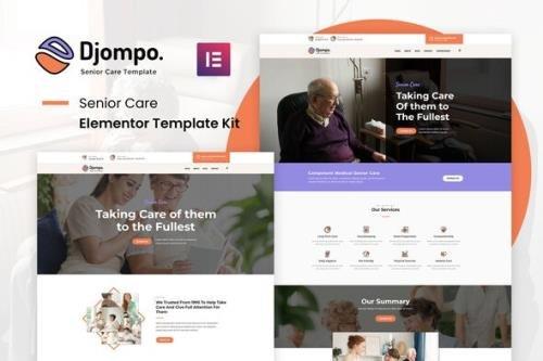 ThemeForest - Djompo Kit v1.0.0 - Senior Care Elementor Template Kit - 29771411
