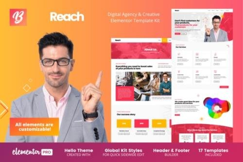 ThemeForest - Reach v1.0.0 - Digital Agency & Creative Elementor Template Kit - 29966605