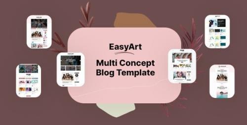 ThemeForest - Easyart v1.0 - Multiconcept Blog HTML Template - 29916835