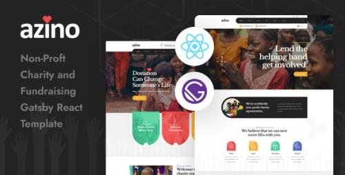 ThemeForest - Azino v1.0 - Gatsby React Nonprofit Charity Template - 29364721