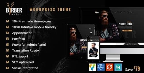 ThemeForest - Barber v1.2.6 - Hair, Tattoo & Beauty Salons WordPress Theme - 19707741