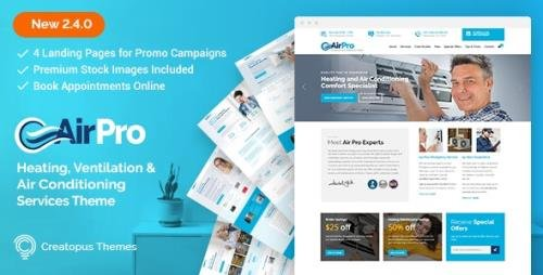 ThemeForest - AirPro v2.6.6 - Heating and Air conditioning WordPress Theme for Maintenance Services - 17143566