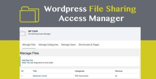 CodeCanyon - WP FSAM v1.2 - File Sharing Access Manager - 22115418