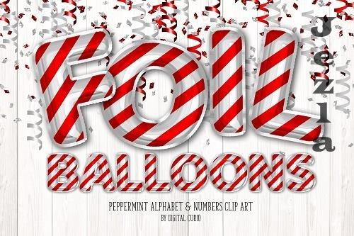 Peppermint Foil Balloon Alphabet - 5760733