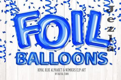 Royal Blue Balloon Alphabet - 5760791