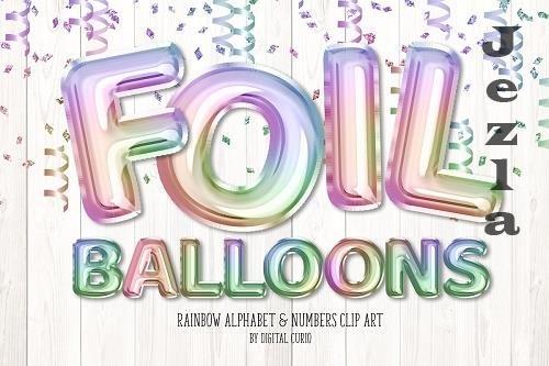 Rainbow Foil Balloon Alphabet - 5760787