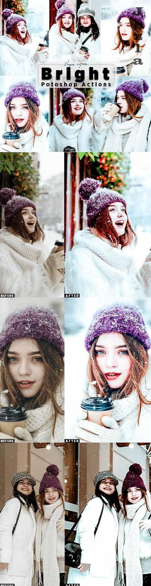 Bright Winter Photoshop Actions - 29801972