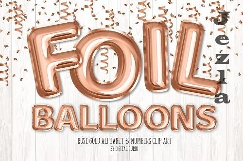 Rose Gold Foil Balloon Alphabet - 5760790
