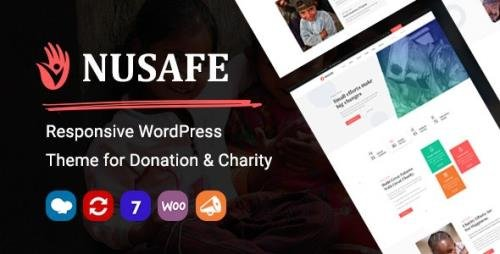 ThemeForest - Nusafe v1.7 - Responsive WordPress Theme for Donation & Charity - 26355978