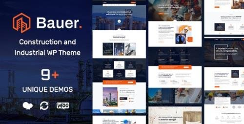ThemeForest - Bauer v1.10 - Construction and Industrial WordPress Theme - 23904858