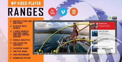 CodeCanyon - RANGES v1.1 - Video Player With Multiple Start and End Points - WordPress Plugin - 26208652