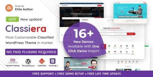 ThemeForest - Classiera v4.0.17 - Classified Ads WordPress Theme - 14138208
