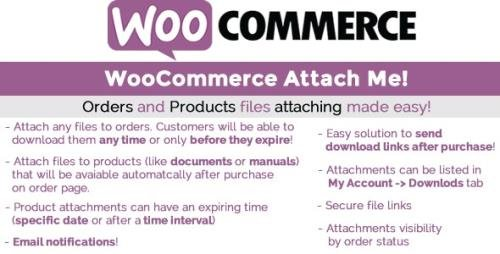 CodeCanyon - WooCommerce Attach Me! v19.7 - 11975229 - NULLED