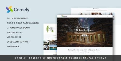 ThemeForest - Comely v1.0 - Responsive Multipurpose Business Drupal 8.7 Theme (Update: 11 May 19) - 19938606