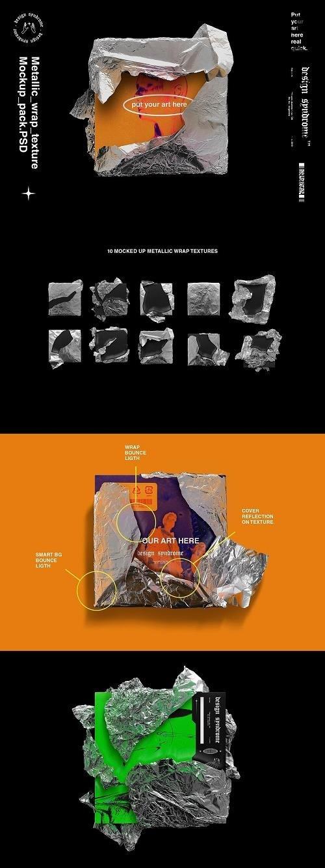 CreativeMarket - Metallic Wrap Mockup Pack 5543537