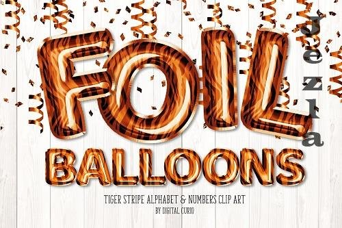 Tiger Stripe Foil Balloon Alphabet - 5760808