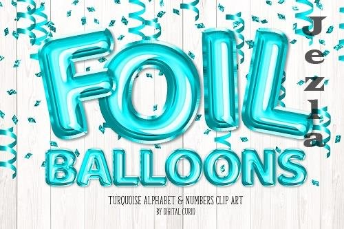 Turquoise Foil Balloon Alphabet - 5760802