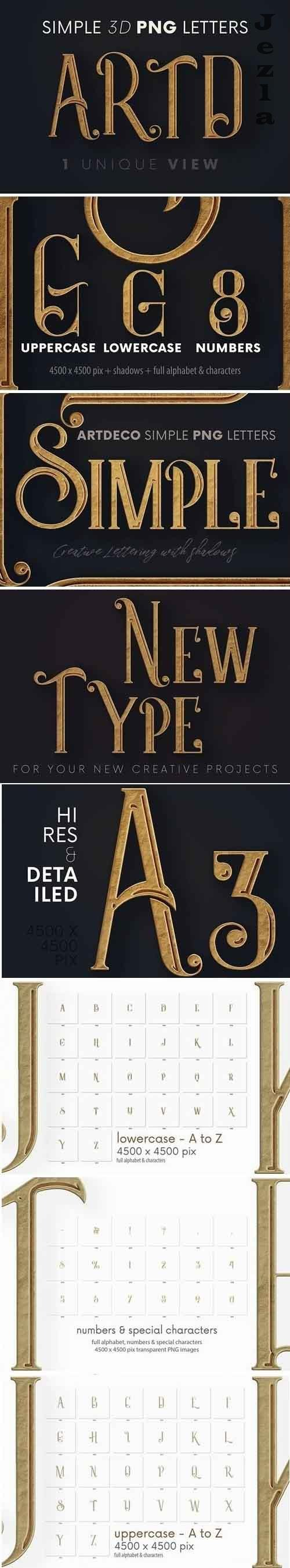 Artdeco Simple - 3D Lettering - 5725130