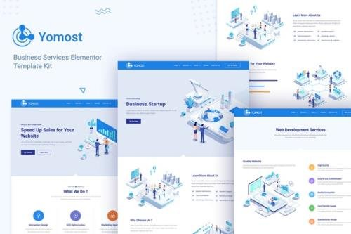 ThemeForest - Yomost v1.0.0 - Business Services Elementor Template Kit - 29892121