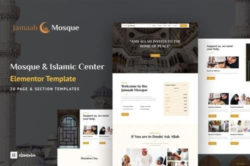 ThemeForest - Jamaah v1.0.0 - Mosque & Islamic Center Elementor Template Kit - 29966905