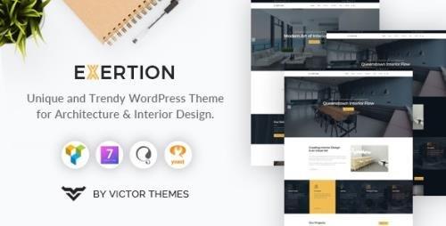 ThemeForest - Exertion v1.3 - Architecture & Interior Design WordPress Theme - 23373932