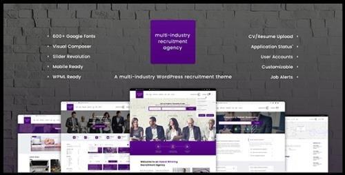 ThemeForest - Recruitment Agency v1.1.2 - Multi Industry Responsive WordPress Theme - 19490434