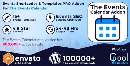 CodeCanyon - Events Shortcodes & Templates Pro Addon For The Events Calendar v2.5 - 20143286