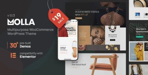 ThemeForest - Molla v1.2.1 - Multi-Purpose WooCommerce Theme - 28487727 -