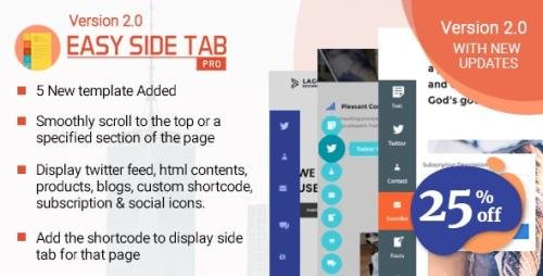 CodeCanyon - Easy Side Tab Pro v2.0.7 - Responsive Floating Tab Plugin For Wordpress - 22296723