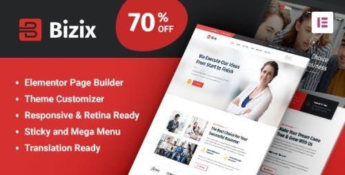 ThemeForest - Bizix v1.1.6 - Corporate and Business WordPress Theme - 25806086