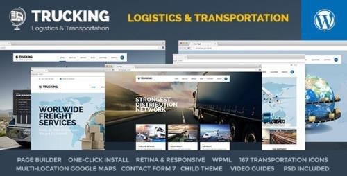 ThemeForest - Trucking v1.5.3 - Transportation & Logistics WordPress - 13432181