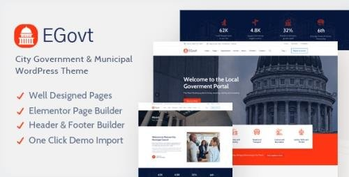 ThemeForest - EGovt v1.0.4 - City Government WordPress Theme - 28562291