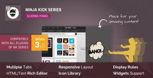 CodeCanyon - WordPress Off-Canvas Sliding Panel - Ninja Kick v3.0.16 - 6796296