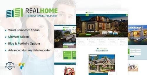 ThemeForest - RealHome v1.9 - Single Property WordPress Theme - 18767950