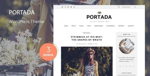 ThemeForest - Portada v2.0 - Elegant Blog Blogging WordPress Theme - 19032008