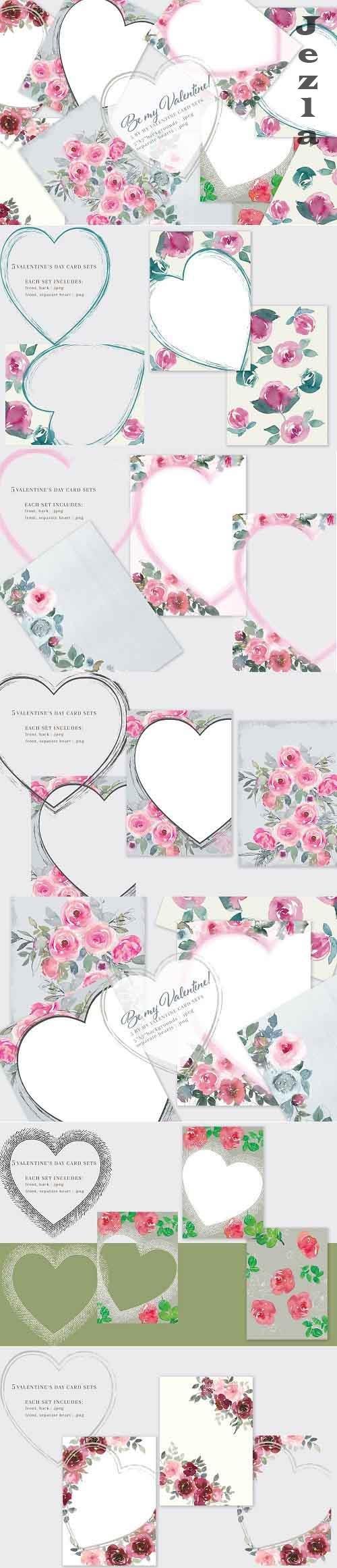 Be My Valentine Printable Cards 5x7  - 5778280