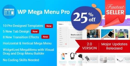 CodeCanyon - WP Mega Menu Pro v2.1.5 - Responsive Mega Menu Plugin for WordPress - 19190840