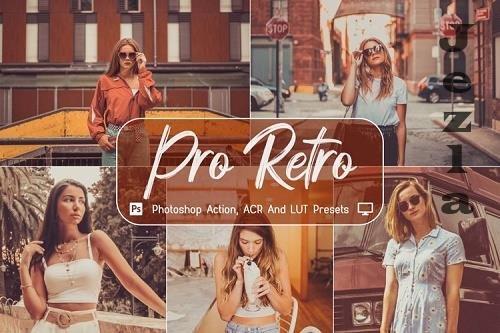 10 Pro Retro Photoshop Actions, ACR, LUT Presets - 1150098