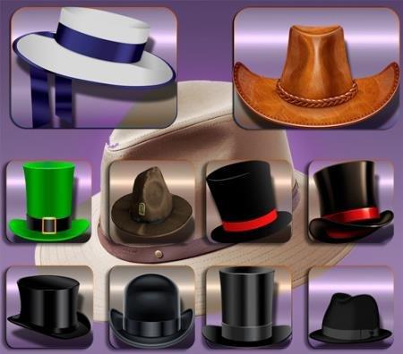Клипарты / Cliparts - Старинные шляпы