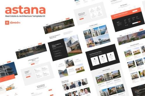 ThemeForest - Astana v1.0.0 - Real Estate & Architecture Elementor Template Kit - 30021105