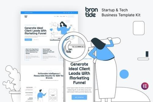 ThemeForest - Brontide v1.0.0 - IT Solutions & Technology Startup Elementor Template Kit - 30048540
