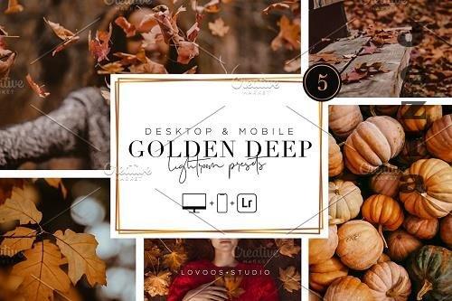 CreativeMarket - Golden Deep - LRM Presets 5200047