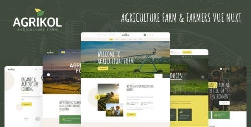 ThemeForest - Agrikol v1.0 - Vue Nuxt Template For Agriculture Farms - 29453090