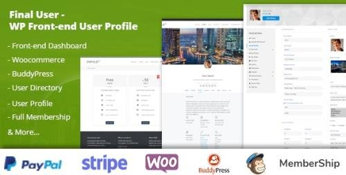 CodeCanyon - Final User v1.1.9 - WP Front-end User Profiles - 22231050