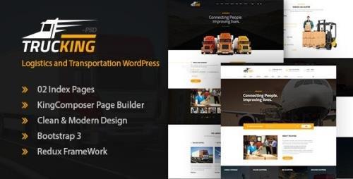 ThemeForest - Trucking v1.19 - Logistics and Transportation WordPress Theme - 19755650