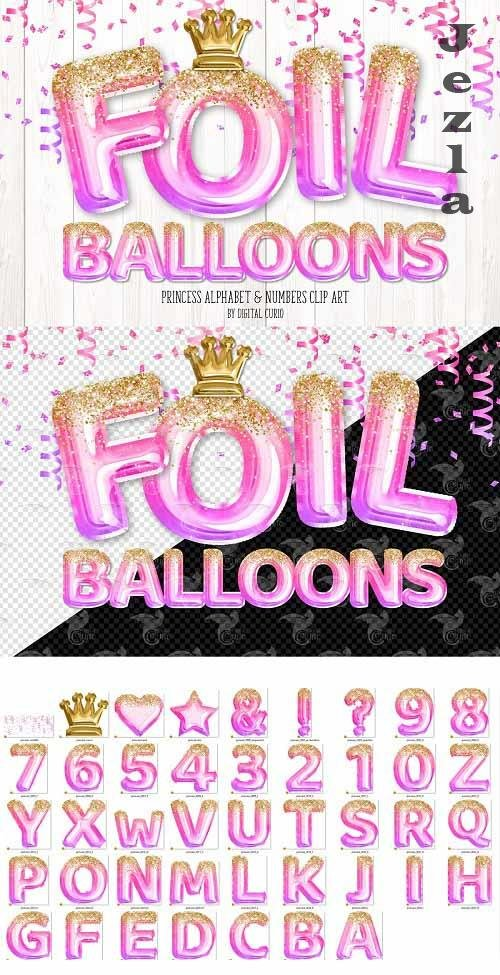 Princess Foil Balloon Alphabet - 5760785